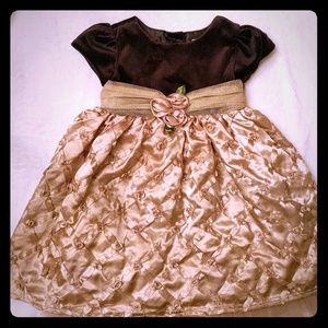 Gold and black formal dress